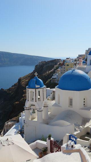 Обои на телефон греция, путешествие, santorini, mediterranean, hd, cruise