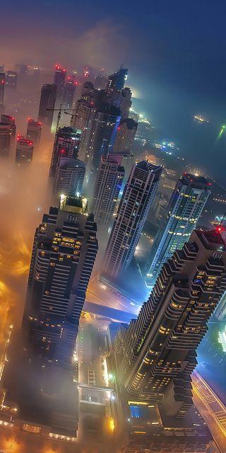Обои на телефон чикаго, туман, телефон, ночь, изгой, дельфины, город, windows, the city, one, hd