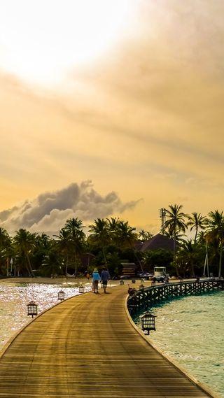 Обои на телефон тропики, пляж, пальмы, море, мальдивы, деревья