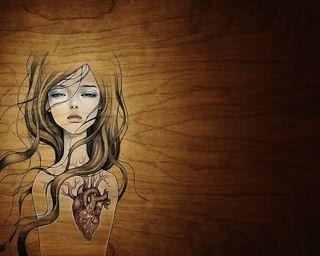 Обои на телефон деревянные, сломанный, сердце, любовь, дерево, девушки, грустные, wooden heart, love