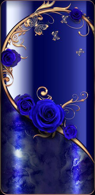 Обои на телефон butterfly royals, синие, прекрасные, розы, золотые, бабочки, симпатичные, мрамор