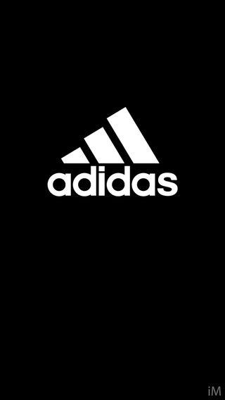 Обои на телефон черные, логотипы, адидас, adidas black logo, adidas