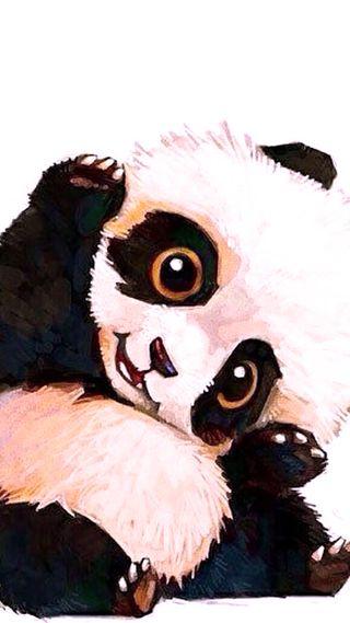 Обои на телефон привет, панда, милые, hello