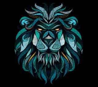 Обои на телефон иллюстрации, черные, цветные, лев, картина, дизайн, графические, lion b, graphic design