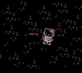 Обои на телефон привет, розовые, котята, звезды