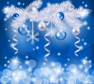 Обои на телефон шары, украшение, синие, рождество, абстрактные, blue christmas