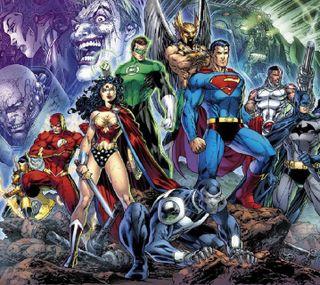Обои на телефон чудо, флэш, супермен, справедливость, лига, киборг, бэтмен, аквамен, lanter, hawkman