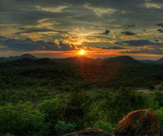 Обои на телефон закат, afrika, african sunset