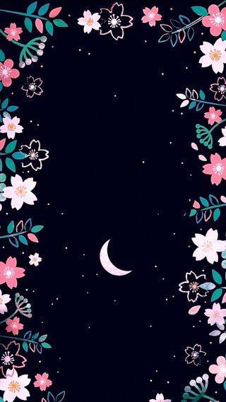 Обои на телефон луна, цветы, розовые, природа, hd, girasol, fondo luna, fondo
