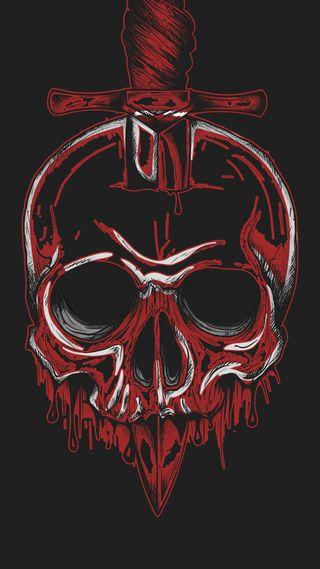 Обои на телефон кровь, череп, темные, смерть, простые, новый, минимализм, металл, крутые, hd, death metal, dagger, 929