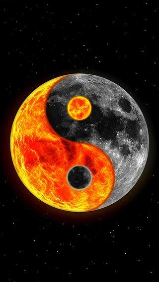 Обои на телефон мир, луна, luna taoo, icio