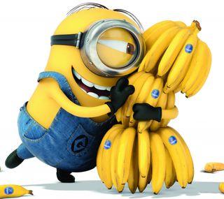 Обои на телефон миньоны, банан, banana minion