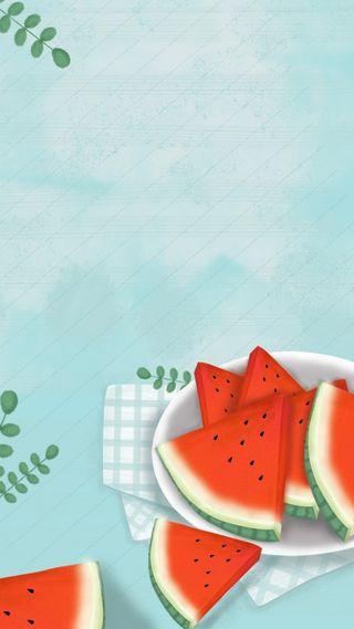 Обои на телефон фрукты, рисунки, еда, арбуз