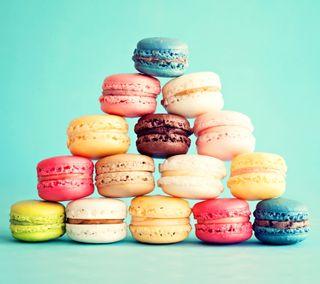Обои на телефон французские, торт, милые, красочные, десерт, macarons, macaron, almond