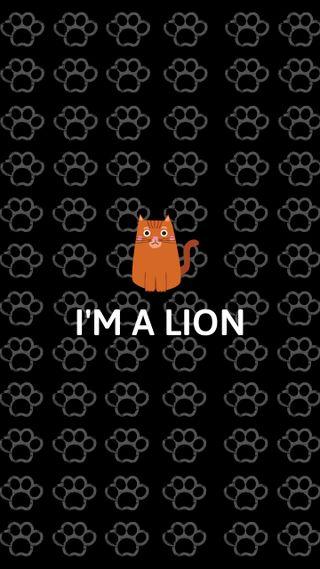 Обои на телефон дикие, шаблон, черные, отношение, оранжевые, милые, лев, кошки, животные, orange cat, lion cat, i am a lion