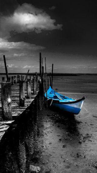 Обои на телефон лодки, синие, мост