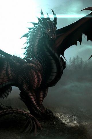 Обои на телефон черные, фантазия, огонь, дракон, mythic, i4, dragon of black, dragon