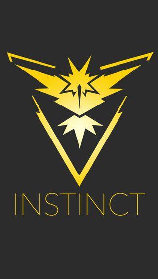 Обои на телефон team instinct, покемоны, команда, инстинкт