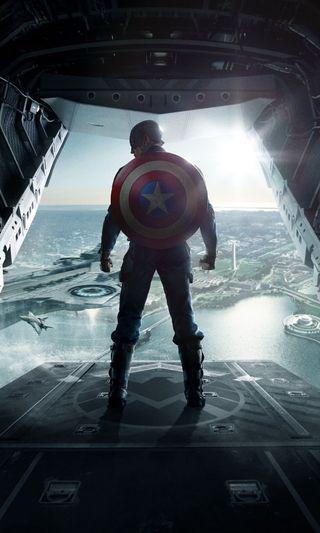 Обои на телефон солдат, фантазия, солнце, небо, мстители, море, капитан, зима, америка, captain america 2