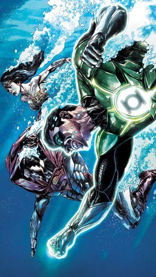 Обои на телефон фонарь, чудо, супермен, несправедливость, зеленые, женщина