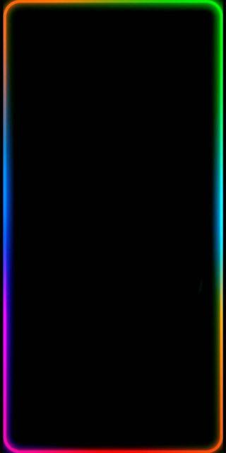 Обои на телефон темы, экран, радуга, неоновые, граница, rainbow boarder, plus