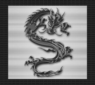Обои на телефон племенные, черные, хром, тату, стальные, серебряные, дракон, дизайн, арт, dragon, art