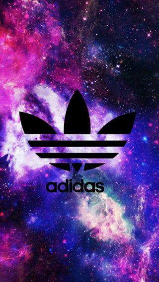 Обои на телефон синие, логотипы, бренды, адидас, adidas