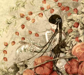 Обои на телефон женщина, цветы, мультфильмы, девушки, восточные, аниме, petal