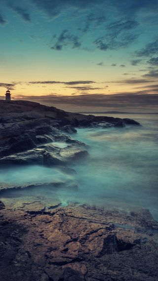 Обои на телефон природа, пейзаж, океан, камни, вода, 1080p