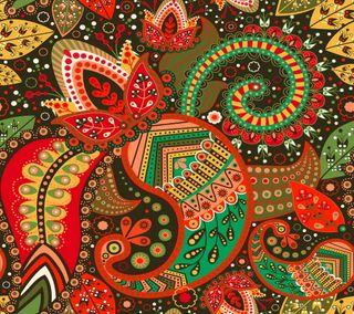 Обои на телефон индия, шаблон, цветочные, красочные, дизайн, восточные, арт, абстрактные, art