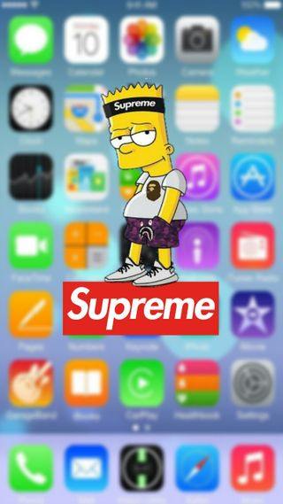 Обои на телефон блокировка, экран, барт, supreme, bartsupreme