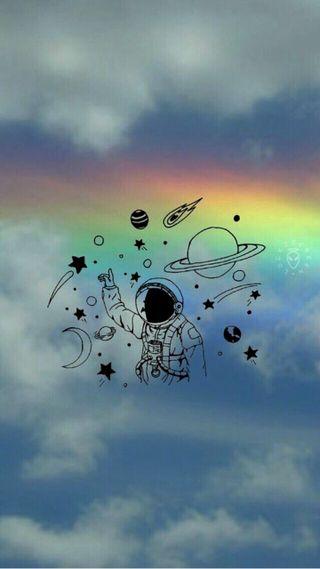 Обои на телефон цветные, радуга, планета, космос, звезды, tumblr, spaceiii, planeta, estrelas