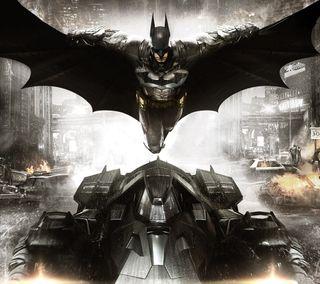 Обои на телефон marvel, batman arkham knight, марвел, бэтмен, рыцарь, летучая мышь, аркхем