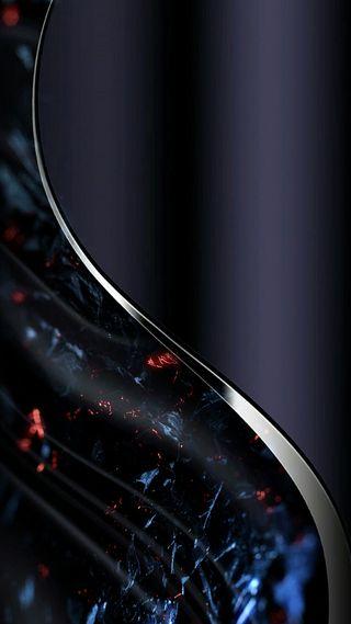 Обои на телефон черные, фиолетовые, синие, серебряные, линии, грани, абстрактные, s8, s7