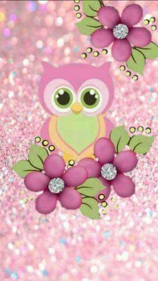 Обои на телефон пастельные, сова, розовые