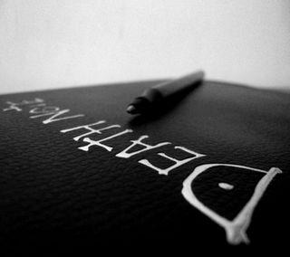 Обои на телефон чернила, черные, темные, смерть, самоубийца, ручка, кожа, готические, note