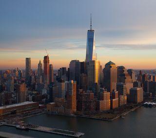 Обои на телефон нью йорк, новый, небоскребы, йорк, здания, город, горизонт, skyline, ny