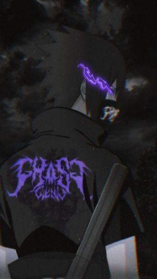 Обои на телефон эстетические, черные, фиолетовые, учиха, саске, призрак, наруто, итачи, sasuke x ghostgxng, naruto shippuden, naruto aesthetic, ghostgxng, ghost gxng