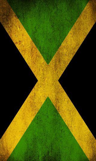 Обои на телефон ямайка, страна, черные, флаг, нация, зеленые, желтые, flag of jamaica
