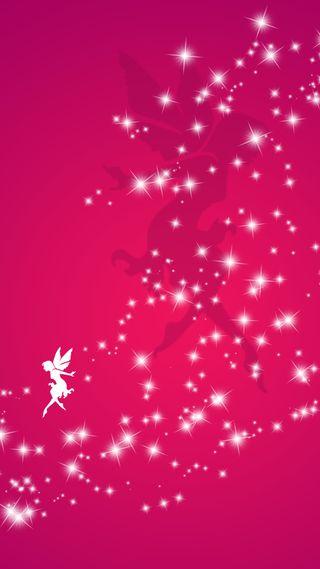 Обои на телефон сказочные, розовые, пыль, минимализм, единорог, девушки, блестящие, pink fairy dust