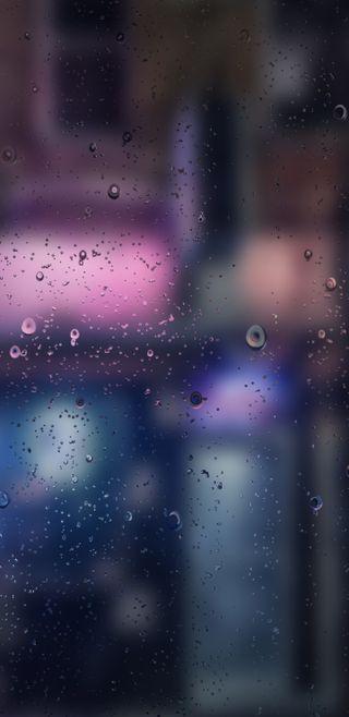 Обои на телефон расплывчатые, погода, огни, грани, город, blurry rains