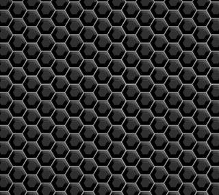 Обои на телефон шестиугольники, металлические, черные, абстрактные