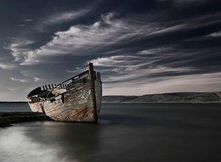 Обои на телефон пляж, море, ruin, canoe