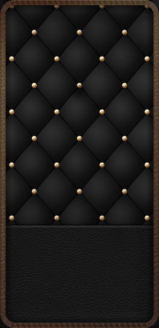 Обои на телефон золотые, черные, padded, black n gold