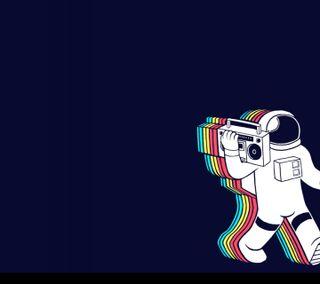 Обои на телефон космонавт, ретро, wagawrg, thethast, astronauta retro