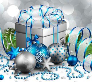 Обои на телефон украшение, счастливое, рождество, подарок
