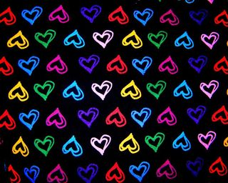 Обои на телефон цифровое, сердце, digital led hearts