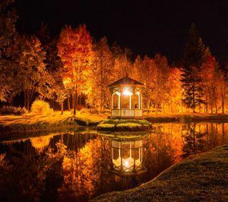 Обои на телефон осень, everning, autumn  everning