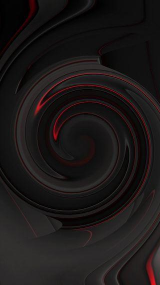 Обои на телефон изображения, черные, темные, круги, красые, иллюзии, абстрактные, slim, illusions
