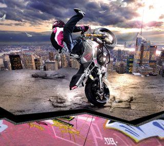 Обои на телефон спорт, приятные, мотоциклы, крутые, классные, вид, байк, stunt
